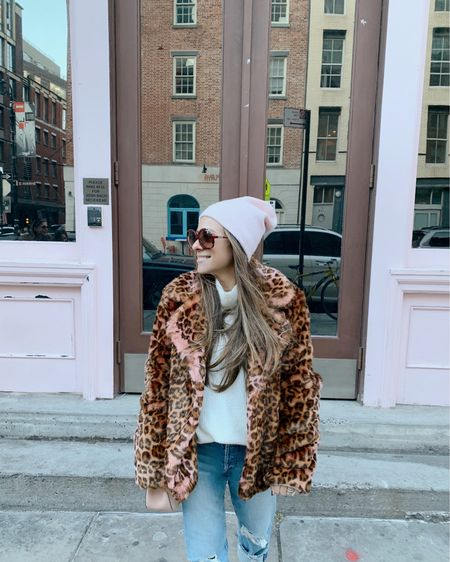 All smiles after the best (pre) birthday weekend full of my favorite things.... fam, friends, food, my new faux fur leopard jacket 😉 and some new adventures 🤗💗🎂😍🎈 http://liketk.it/2GKxU #liketkit @liketoknow.it