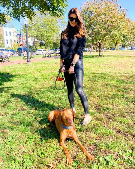 Spanx sale, 20% off spanx, leggings, all black outfit, gifts for her, neutral outfit, casual style, dog mom, vizsla, puppy love. http://liketk.it/32Qg1 #liketkit @liketoknow.it #LTKgiftspo #LTKunder100 #LTKsalealert