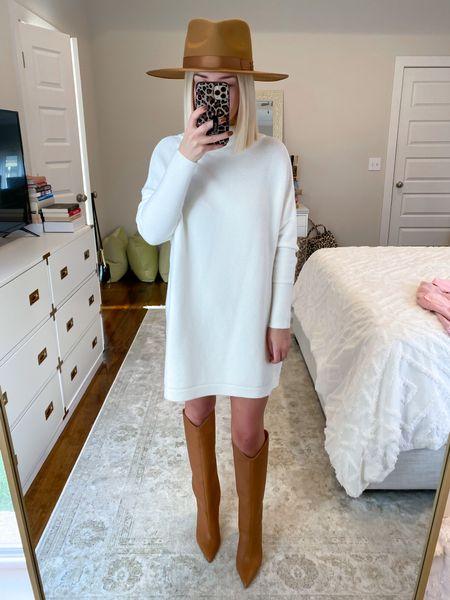 Free People inspired Free People sweater dupe White sweater dress Size: XS   #LTKunder50 #LTKHoliday #LTKSeasonal