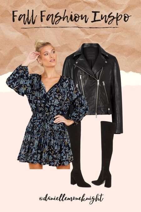 Fall Fashion Inspo! Who doesn't love an OTK boot and a fall floral mini!! Shop this look now!! #LTKSeasonal #competition   #LTKunder100 #LTKshoecrush #LTKstyletip