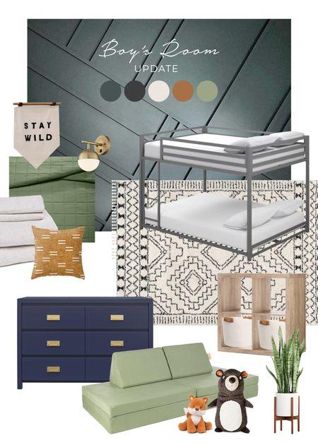 Shared boys room design inspo.   #LTKkids #LTKfamily #LTKhome