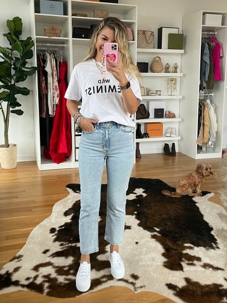 Causal outfit ideas fall outfit ideas Nordstrom Wildfang graphic tee   #LTKsalealert #LTKunder50 #LTKstyletip