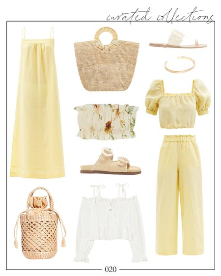 Recently discovered the brand Casa Raki and love pretty much everything they design, including this two piece set and the yellow linen dress. If you're nervous to wear yellow, try muted tones like these.   #summerfashion #summerstyle #summeroutfits #twopieceset #linendress #summerdress #linenset #twopiecesets #wovenbag #summeroutfitscasual #wovenbag #whitesandals #slidesandals #wovenslides #vinceslidedupe  Summer fashion, summer outfits, yellow dress, linen dress, H&M finds, h and m finds, summer fashion under $100, matchesfashion, two piece set linen, two piece set, two piece sets, Natalie Yerger   #LTKstyletip #LTKSeasonal #LTKunder100