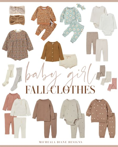 Baby girl fall clothes. Neutral baby girl clothes.   #LTKunder50 #LTKbaby #LTKfamily
