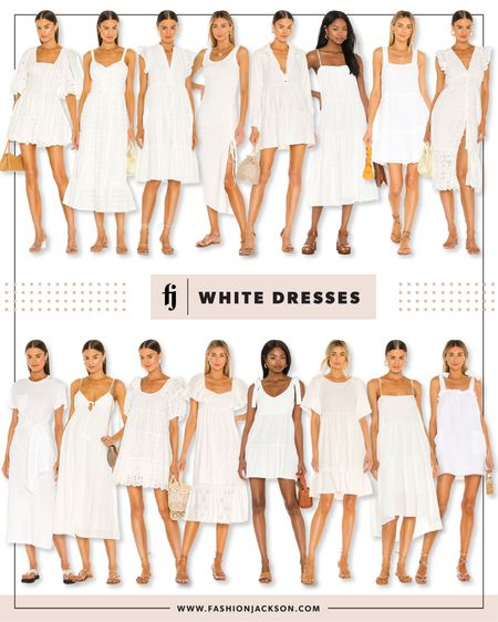 Rounding up perfect #whitedresses for #summer. #summerfashion #summerdress #beachvacation #bachelorette #bride #fashionjackson http://liketk.it/3f53Z #liketkit @liketoknow.it #LTKstyletip #LTKwedding