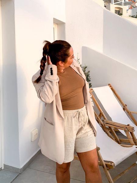 Blazer linen shorts   #LTKtravel #LTKHoliday #LTKSeasonal