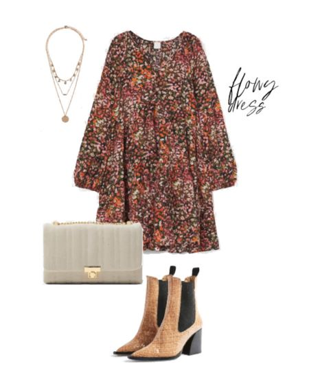 This dress is PERFECT for Fall! It had such beautiful colors and goes great with these amazing tan booties. 🍂 Shop this look via @liketoknow.it http://liketk.it/2Xf9a #liketkit