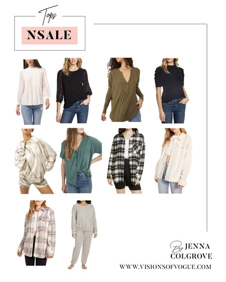 My favorite tops from the Nordstrom Anniversary Sale (NSALE) including the free people thermal (will sell out fast) and the Rails plaid flannel button downs!   #LTKunder50 #LTKunder100 #LTKsalealert