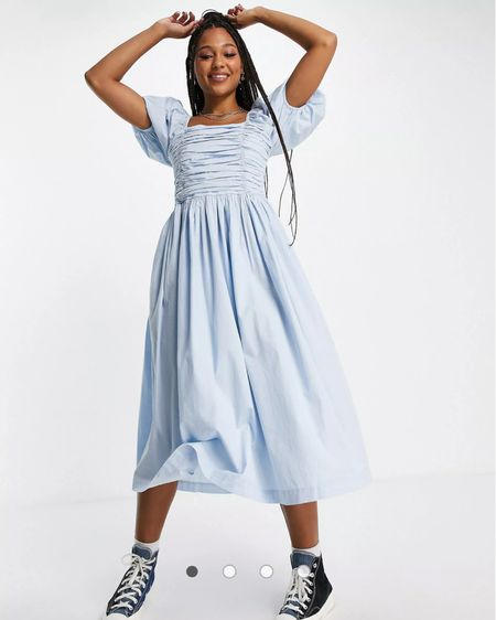Obsessed with this super cute blue summer dress! It's perfectly cottage core and looks like a 70s milk maid dress! So cute! It's also from ASOS so it's super affordable @liketoknow.it.europe Shop your screenshot of this pic with the LIKEtoKNOW.it shopping app  http://liketk.it/3jycZ #liketkit @liketoknow.it