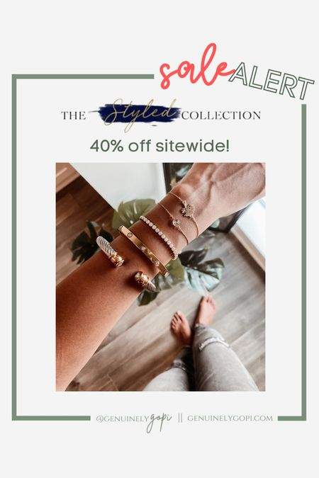 always get asked about my bracelet stack - a lot of it is from The Styled Collection, and I can't recommend them enough! Their quality is amazing 👌🏽  40% off sitewide today through 9/21! grab your stack now 🙃    #LTKSale #LTKsalealert #LTKstyletip