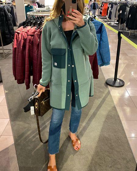 Wearing size small.  Love this long fleece jacket.   http://liketk.it/3jRvy #liketkit @liketoknow.it #LTKstyletip #LTKsalealert #LTKunder100 #nsale