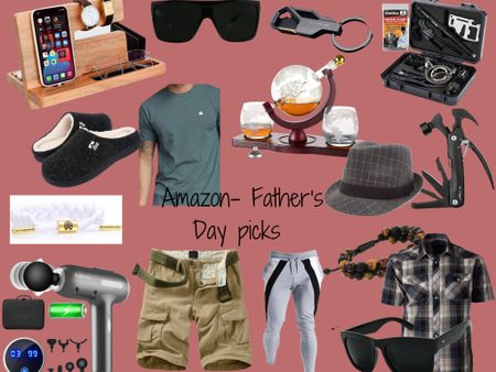 http://liketk.it/3hHIY #liketkit @liketoknow.it #LTKmens #LTKsalealert #LTKstyletip #fathersdaygiftguide #fathersday  Father's Day! Amazon. Everything arrives before the 20th 🙌🏼🙌🏼  Linked up some items my hubs Jay owns & loves.  The grey joggers are very comfortable from what he says and fit true to size. (Clothing comes in different colors and sizes.)  His favorite sunnies are linked; he really needs a darker lens due to sensitive eyes. These are the best we found, so far. They have a nice style, while still giving you that super dark shade from the sun. Highly recommend.  Slippers are also one of his top go tos 🙌🏼 fits TTS   Price ranges: $10-$60