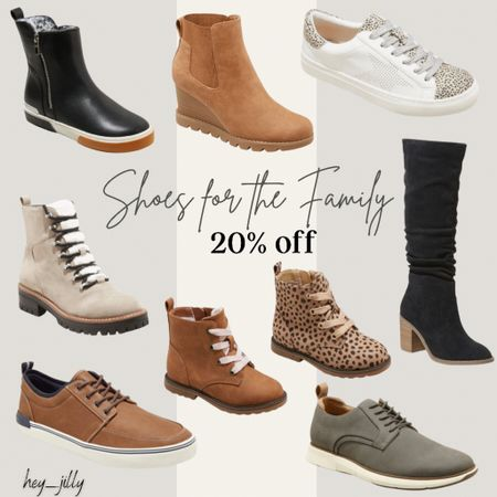 20% off shoes for the family through Tuesday at Target. Lots of great options for fall   #LTKshoecrush #LTKsalealert #LTKSeasonal
