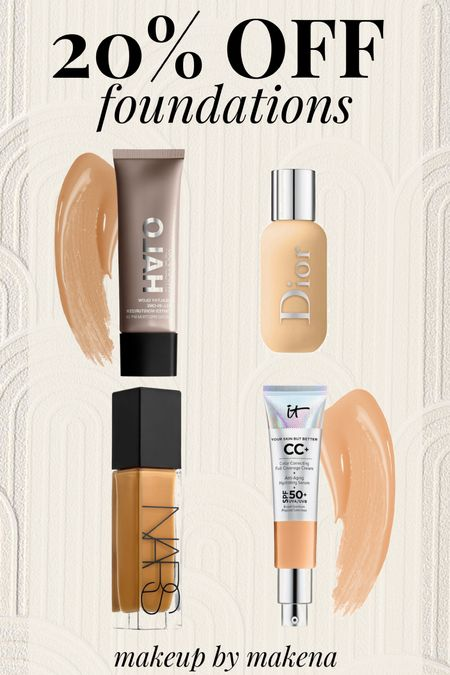 Use code 'SAVE20' online at Sephora to save 20% on any foundation through 9/20. Here are my favorite foundations.   #LTKunder50 #LTKbeauty #LTKsalealert
