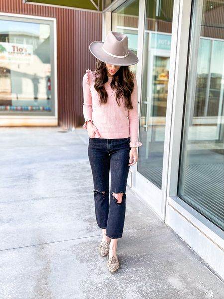 Spring Outfit | spring fashion | Straight Leg Jeans | Abercrombie & Fitch | Gigi Pip Hat | wide brim hat | Free People | Target Finds | slides | mules | flats #LTKwomens #LTKfashion #LTKstyle   Shop my daily looks by following me on the LIKEtoKNOW.it shopping app.   #LTKSeasonal #LTKunder100 #LTKstyletip