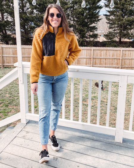 Funny how sunny and 40 degrees gets me excited for spring ☀️ • • I'm loving this @target pullover. Not a lot of people are a fan of this color but I love it. http://liketk.it/38T4S #liketkit @liketoknow.it #LTKSeasonal