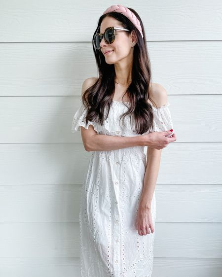 The prettiest white dress in summer eyelet ! Wearing a small. http://liketk.it/3h7zH #liketkit @liketoknow.it loving these amazon fashion finds lately!