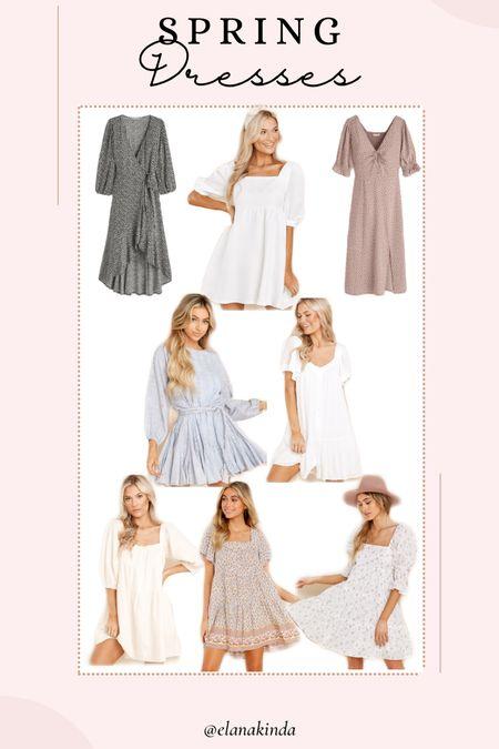 Spring dresses , white dresses , floral dresses ,   #LTKunder50 #LTKunder100 #LTKsalealert