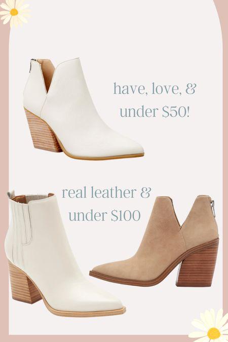 Fall booties on sale under $50 and under $100   #LTKunder50 #LTKsalealert #LTKunder100