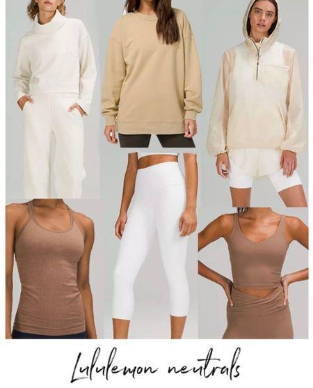 Lululemon Neutral Finds, Lululemon Fall pieces, Lululemon Leggings   #LTKSeasonal #LTKfit #LTKstyletip