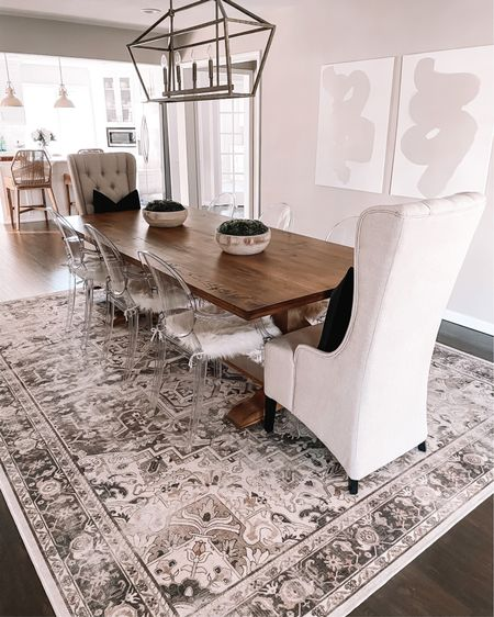 New @ruggable rug, who dis? 😜 #ruggablepartner We've been loving + obsessed with this Kamran Hazel Rug. It's a 9x12 and fits the space perfectly! Not only is it super cute but it's also stain resistant + machine washable and 10% off with code FUNSHELBYJ10 👏🏼🖤 http://liketk.it/38Aau #liketkit @liketoknow.it #LTKhome
