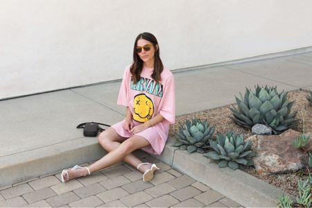 Summer Style — Tee shirt dress!  + LTKcreator #LTKshoecrush #LTKfit #LTKSeasonal #LTKbag #LTKbeauty #nirvana #summerstyle #style #ootd #lulus #coach
