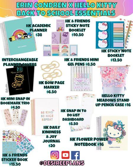 So many Cute Hello Kitty Back to School Must Haves!! Check out my favorites from The Erin condren X Hello Kitty Collection !  #ltkschool #ltkbacktoschool #ltkteachers #ltkplanning #ltkhellokitty  #LTKkids #LTKunder50 #LTKfamily