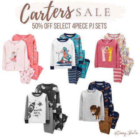 Fave kids pjs - 4 piece sets - 50% off @carters !!  #LTKsalealert #LTKkids #LTKGiftGuide