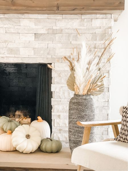 Neutral Fall fireplace decor that carries you through Thanksgiving🍂  #LTKHoliday #LTKstyletip #LTKhome