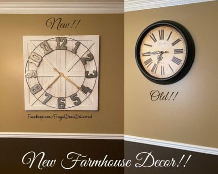 Updating my dining room, living room kitchen and bathrooms with farmhouse decor, rustic chic, white and gray themes! Check out the farmhouse clock with galvanized metal I found at Nordstrom rack and similar ones on amazon, wayfair and overstock! The first link below is the exact clock! Let me know what your thoughts are in which you like better!   Screenshot this pic to get shoppable product details with the LIKEtoKNOW.it shopping app make sure you follow FrugalDealsDelivered for more ideas and collage inspiration!   http://liketk.it/3gdwD #liketkit @liketoknow.it #LTKhome #LTKfamily @liketoknow.it.home @liketoknow.it.family #LTKsalealert