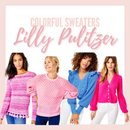 Loving these bright colored fall and winter sweaters from Lilly Pulitzer! So many fun styles and colors! #lillypulitzer #sweater #colorful #colorfulsweater #fall   #LTKstyletip #LTKSeasonal #LTKHoliday