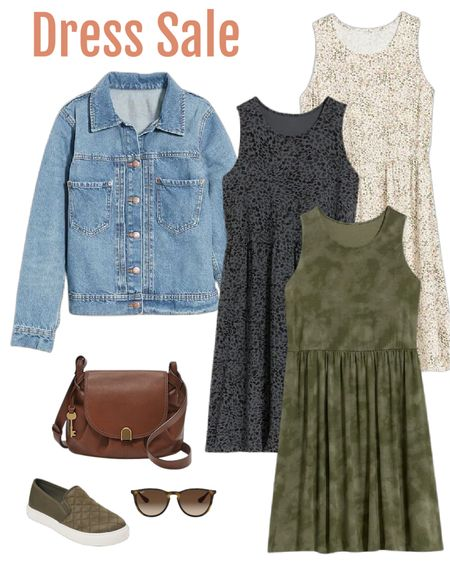 Sale alert… Dress from Old Navy additional 30% off with code HURRY Add denim jacket and casual slide on or sneaker for fall outfit look.  #ltkwomens   #LTKSeasonal #LTKSale #LTKshoecrush