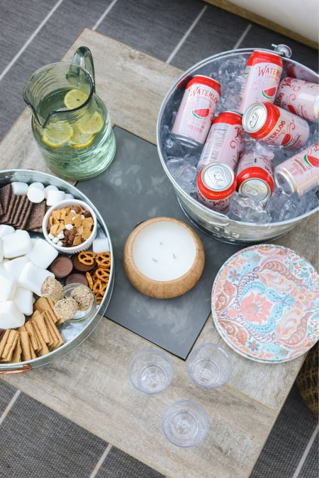 Labor Day ideas- s'more stray! Outdoor dining, family, tray, drink tub #competition   #LTKfamily #LTKhome #LTKSeasonal