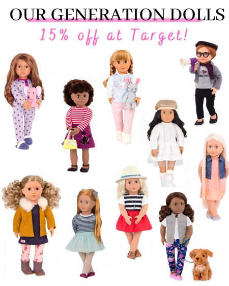 Our Generation Dolls on sale at Target today! 15% off! http://liketk.it/33SHA #liketkit @liketoknow.it