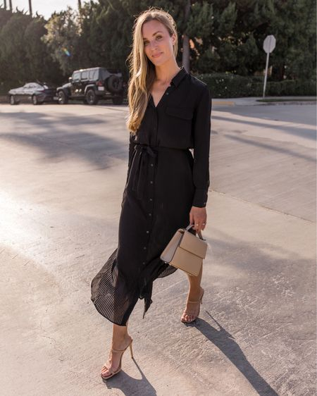 Black shirt dresses. Exact from Mango is sold out, four similar linked at different price points! 🖤  #shirtdress #blackshirtdress #shirtdressoutfit #falldress #casualfalldress