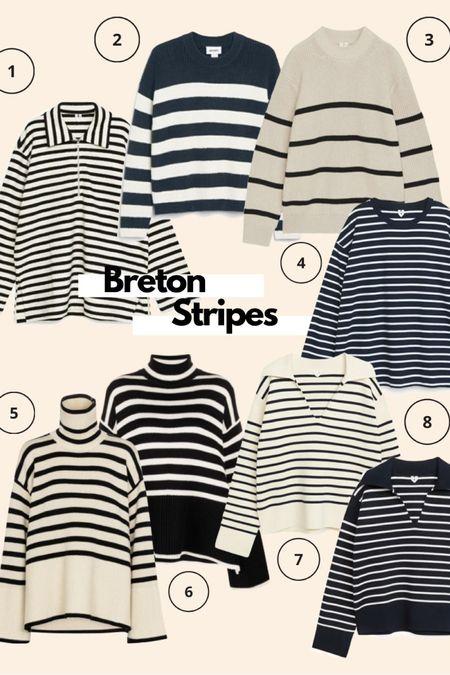 Breton tops, Breton stripes, striped jumper, striped to, arket top, toteme jumper, monki jumper @liketoknow.it #liketkit http://liketk.it/3mx7t #LTKeurope #LTKstyletip