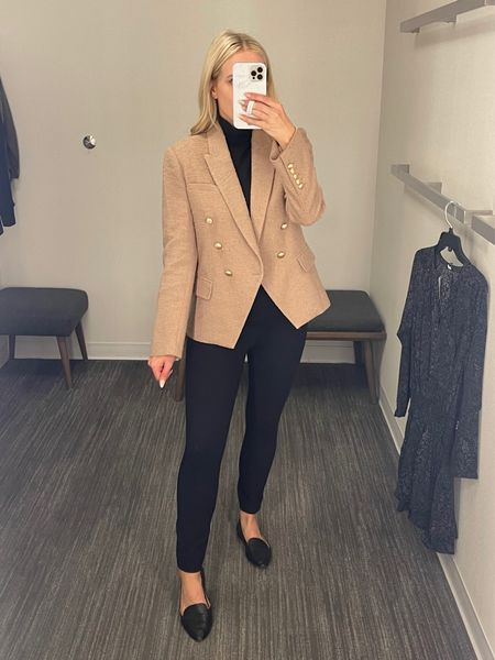 🇨🇦s this designer blazer is exclusive to the Canada NSALE! I'll link my black pants (spanx dress pants - perfect for work) as well. Everything fits true to size!  : : : Nordstrom sale - Nordstrom canada - l'agence Kenzie double breasted boucle blazer - work wear - 9 to 5 - office outfit - business casual - women's blazer   #LTKstyletip #LTKsalealert #LTKworkwear