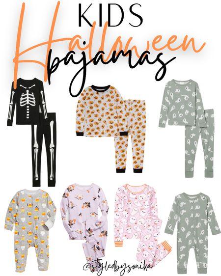 Halloween kids pajamas children's pjs   #LTKHoliday #LTKbaby #LTKkids