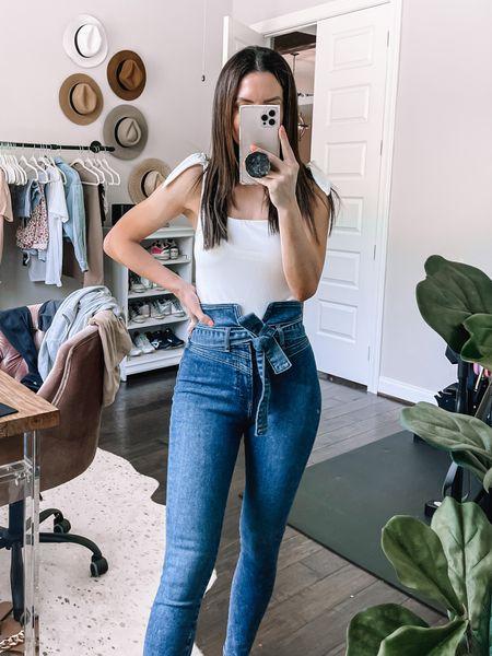 Express high rise jeans  Fit TTS   #LTKunder100 #LTKsalealert #LTKstyletip
