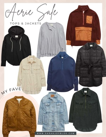 Aerie tops and jackets up to 50% off today!!