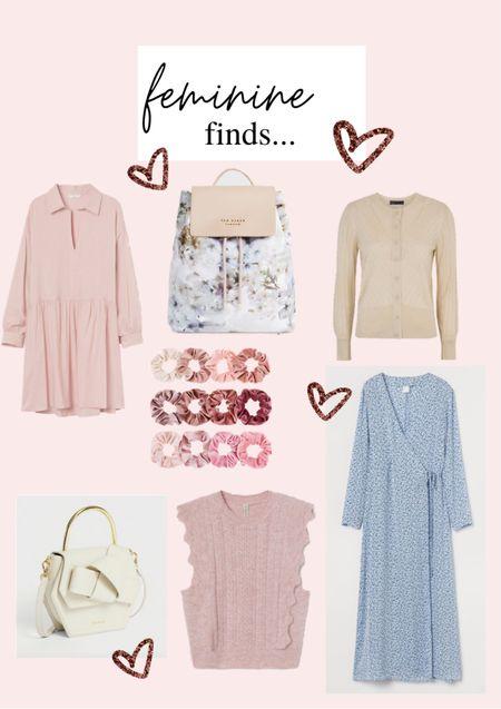 Feminine finds - Valentine gifts - pink dress - maxi dress - cardigan - sleeveless sweater - velvet scrunchies - white bag - floral back bag - pink - spring finds - spring outfits     #LTKVDay #LTKstyletip #LTKSeasonal