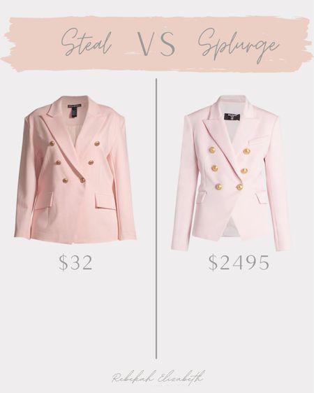 Plus size designer inspired blazer 💕 #rebekahelizstyle  #LTKcurves #LTKstyletip #LTKunder50