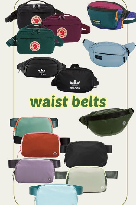 the freedom you have with a waist belt Fanny pack!! - it's amazing! I personally have the adidas (old version), but links multiple ones! I know lululemon ones are VERY POPULAR!!!! So many fun colors too!