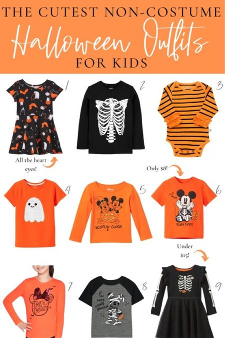 Halloween outfits for kids 🧡 Perfect outfits for both boys and girls to wear for school Halloween parties!   #LTKunder100 #LTKHoliday #LTKkids