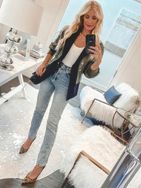 Obsessed with this Veronica Beard bomber/blazer jacket - it runs tts I'm wearing an xs.  Follow my shop @soheatherblog on the @shop.LTK app to shop this post and get my exclusive app-only content!  #liketkit #LTKstyletip #LTKunder100 #LTKunder50 @shop.ltk http://liketk.it/3psKt