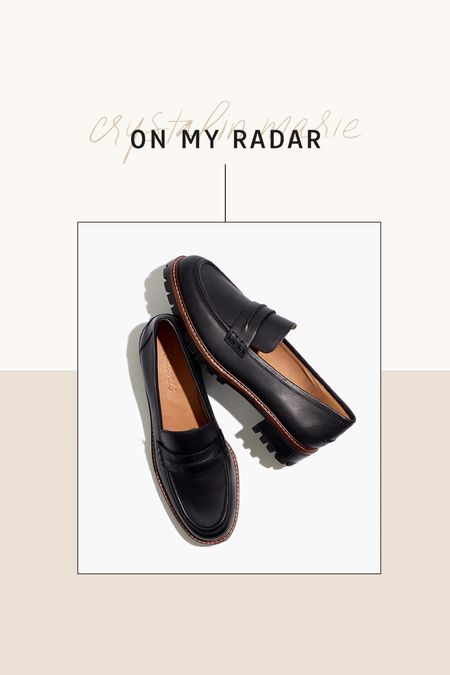 Madewell lugsole loafers- on sale!    #LTKsalealert #LTKshoecrush