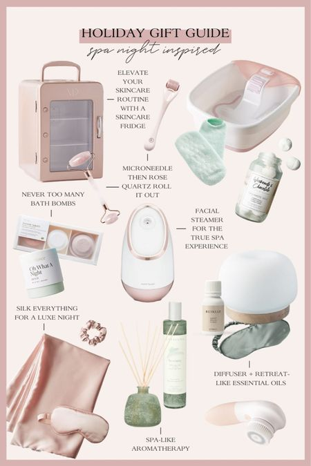 Holiday gift guide inspired by spa night at home! Perfect gift ideas for the beauty lover, mom, friend, sister, wife and more! http://liketk.it/33DW9 #liketkit @liketoknow.it #LTKgiftspo #StayHomeWithLTK #LTKbeauty