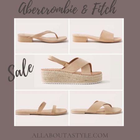 Abercrombie & Fitch Sale. Sandals for every outfit. Dress up or dress down. #LTKDay #LTKshoecrush #LTKsalealert #sandals #summer #summerwear @liketoknow.it #liketkit http://liketk.it/3hkLn