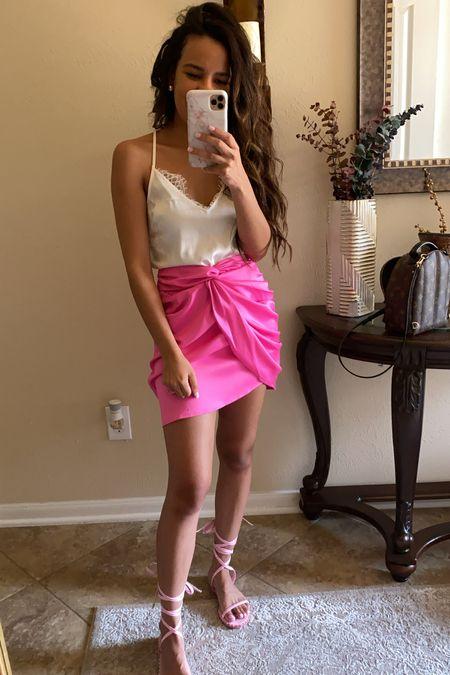 Pink wrap skirt  #LTKsalealert #LTKunder50 #LTKunder100