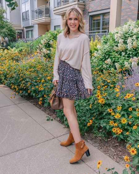 It's September which means it's time to bust out the booties & pumpkin spice everything 🎃🍂 What are you most excited for about fall? I'm all giddy at the thought of going apple picking 🥰 . . .   #LTKshoecrush #LTKSeasonal #LTKstyletip